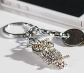Schlüsselanhänger Glitzer-Eule
