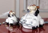 Spardose Brautpaar weiß
