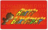 Frühstücksbrettchen Happy Birthday