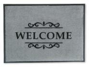 Easy-Clean Matte Welcome grau 50x70