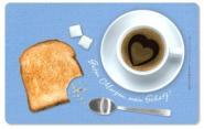 Frühstücksbrettchen Toast & Kaffee