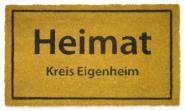 Kokos-Fußmatte Heimat-Kreis Eigenheim
