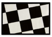 Waschbare Komfortmatte Karo black&white