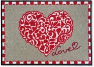 Sauberlauf-Fußmatte Love Herz
