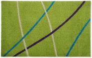 Waschbare Sauberlaufmatte Linien grün