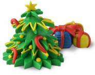 Knete Deinen eigenen Weihnachtsbaum