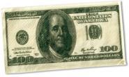 Taschentücher 100 Dollar-Note