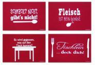 Filz-Tischsets rot 4er-Set