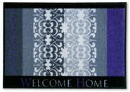 Sauberlauf-Fußmatte Welcome Home lila