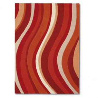 Design-Teppich Pop Art rot gestreift 140x200