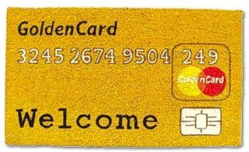 Kokos-Fussmatte Gold Card