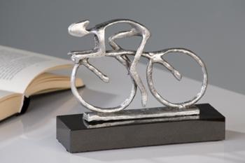 Skulptur Bike silber