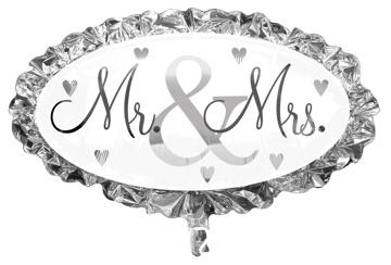Folienballon Mr. & Mrs.