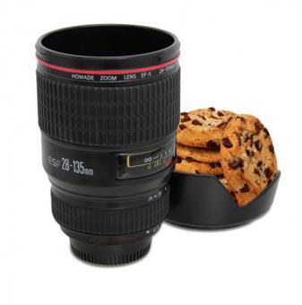 Tasse Kameraobjektiv