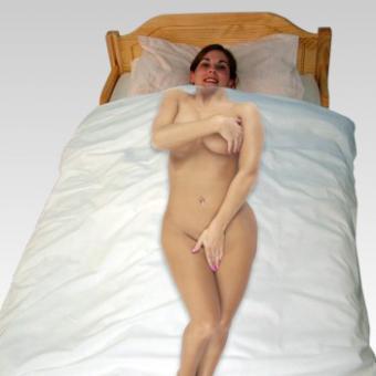 Foto-Bettbezug Frau