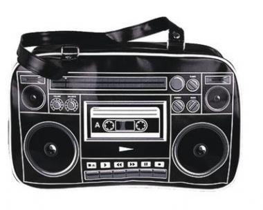 Black Boombox Tasche