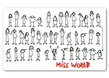 Frühstücksbrettchen Miss World