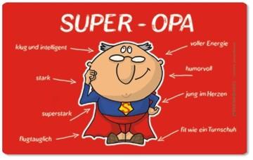 Frühstücksbrettchen Super Opa