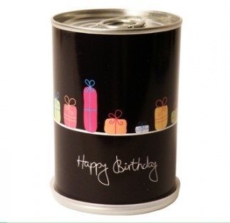 Sonnenblumen-Dose Happy Birthday
