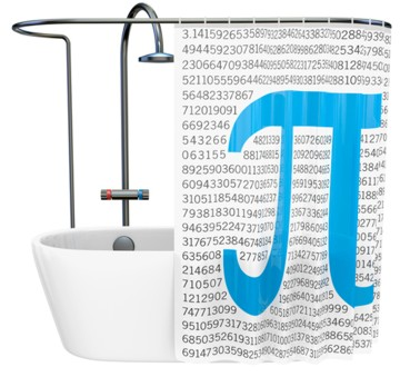Duschvorhang Pi