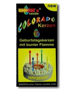 Geburtstagskerzen mit farbiger Flamme