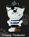 Katzen-Figur Freddy Freibeuter