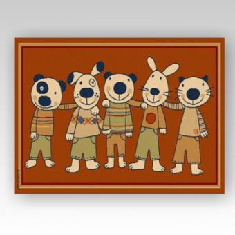 Kinderteppich Fünf Strolche