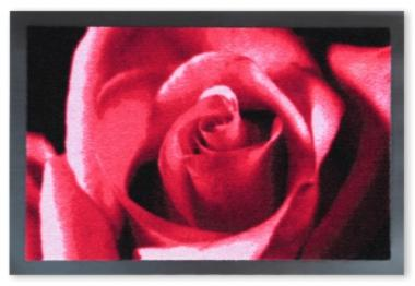 Sauberlauf-Fußmatte Rose