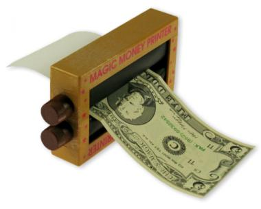 Magischer Geldscheindrucker