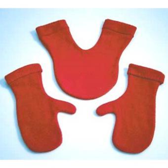 Doppelhandschuhe Glovers rot
