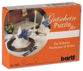 tolle geschenke gutscheinpuzzle dinner geschenke online kaufen. Black Bedroom Furniture Sets. Home Design Ideas