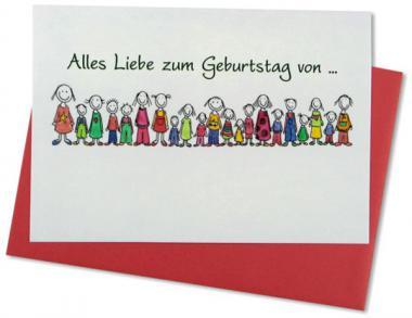 Glückwunschkarte Alles Liebe zum Geburtstag!