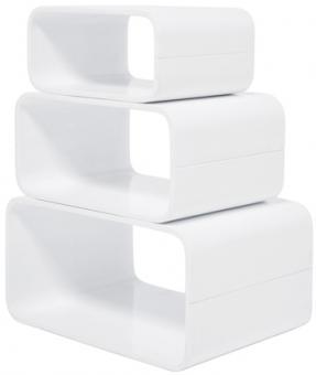 Lounge Cuben Glossy White 3tlg.