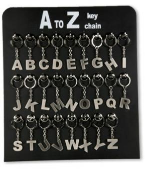 Schlüsselanhänger Buchstabe