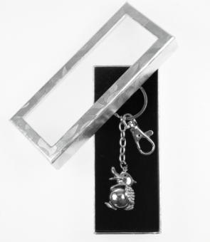 Schlüsselanhänger Duck mit Kristallsteinchen