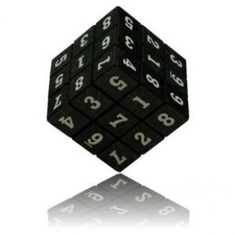 3D-Sudoku-Würfel schwarz