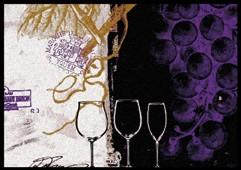 Waschbare Komfortmatte Vino Tinto