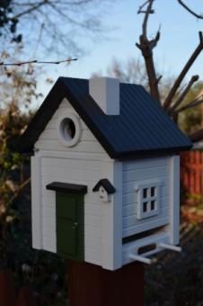 Multiholk Vogelhaus Weißes Haus