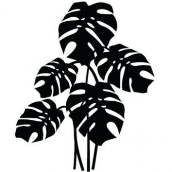 Wandaufkleber Philodendron