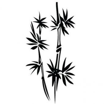 Wandaufkleber Bambus