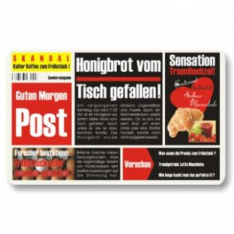 Frühstücksbrettchen Zeitung