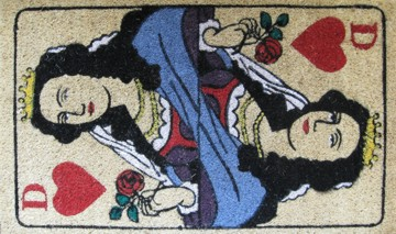 Kokos-Fußmatte Herz-Dame