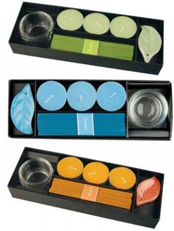 Duftteelichter & Räucherstäbchen im Set