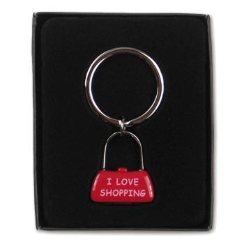 Schlüsselanhänger Tasche I love shopping