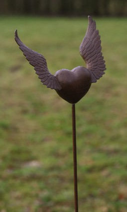 Gartenstecker Flying Heart