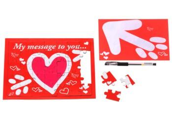 Postkarte Puzzle Message