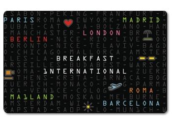 Frühstücksbrettchen International Breakfast