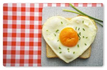 Frühstücksbrettchen Spiegelei