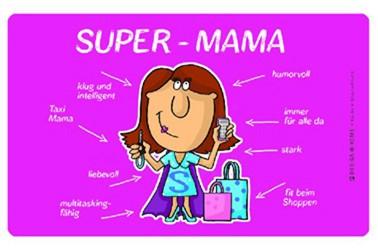 Frühstücksbrettchen Super Mama