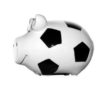 Sparschwein Fußball
